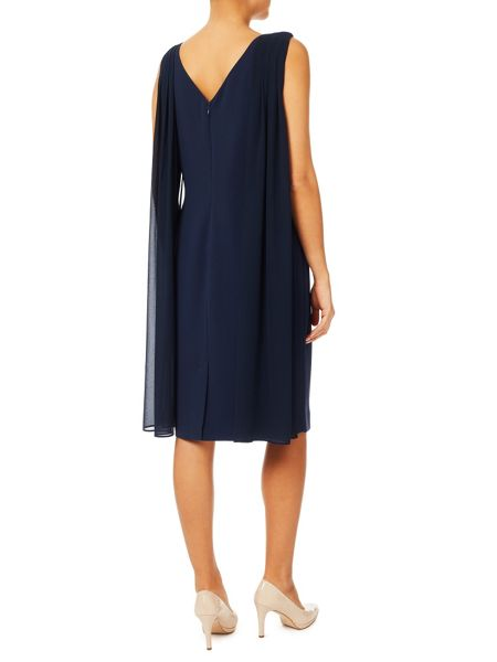 Jacques Vert Drape Cape Dress