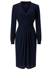 Jacques Vert Drape And Pleat Jersey Dress