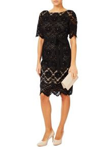 Jacques Vert Lace Contrast Shift Dress