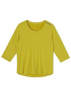 Peached Chartreuse Top