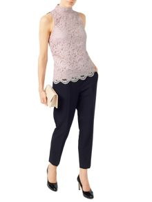 Jacques Vert Lace High Neck Top