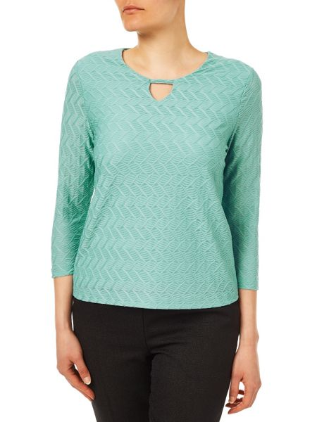 Eastex Keyhole Detail Textured Top