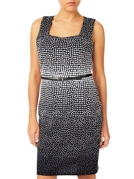 Jacques Vert Jacquard Spot Dress