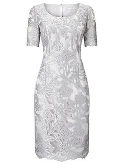 Cross Hatch Lace Shift Dress