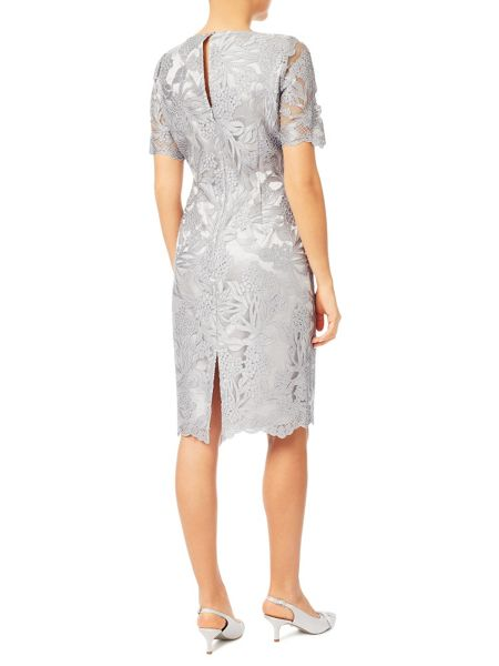Jacques Vert Cross Hatch Lace Shift Dress