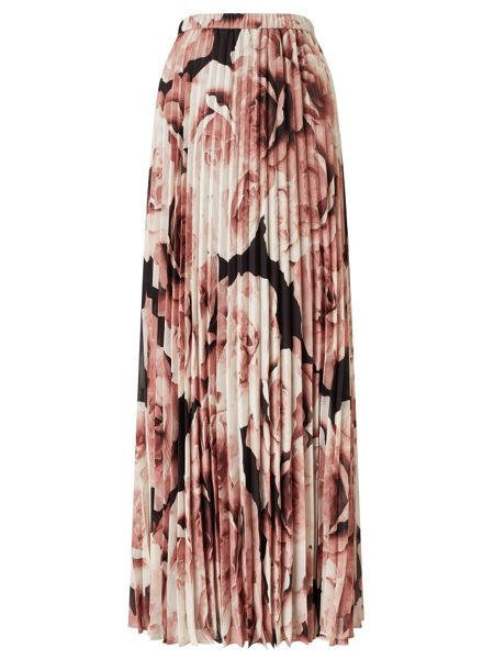 Jacques Vert Printed Plisse Maxi Skirt