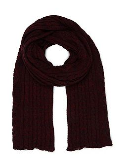 Cherry Cable Scarf