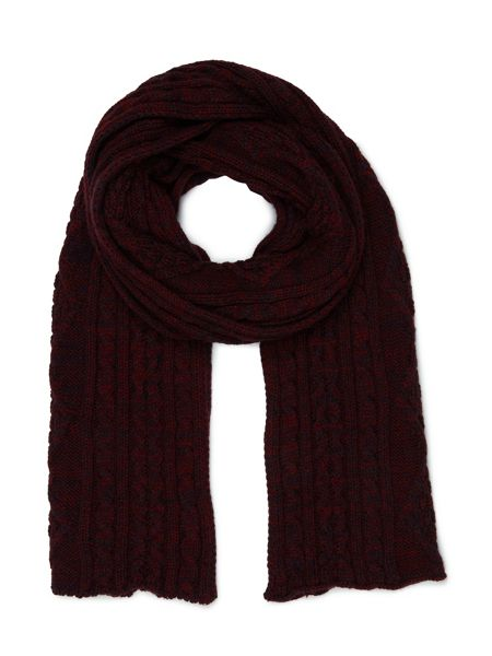 Dash Cherry Cable Scarf