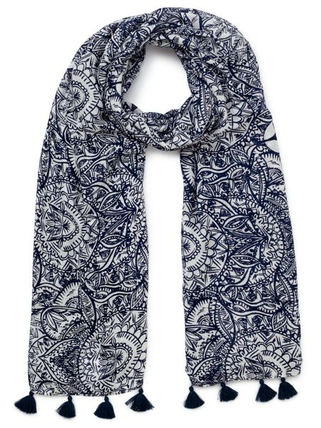 Dash Stained Glass Print Scarf