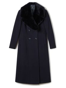 Precis Petite Nanette Fur Collar Long Coat