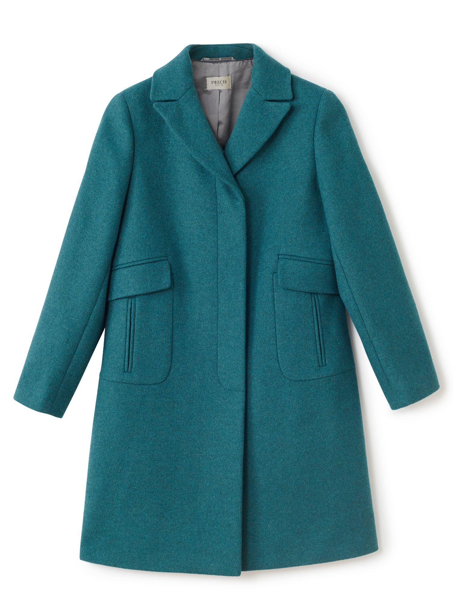 Precis Petite Allison Mid Coat, Green