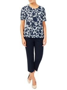 Eastex Mixed Texture Floral Top