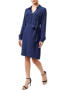 Precis Petite Navy Shirt Dress