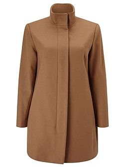 Buckle Neck Wool Coat