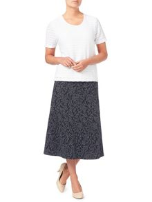 Eastex Texture Jacquard Skirt Short