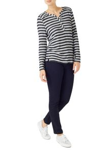 Dash Stripe Marl Top