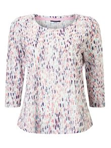 Dash Printed Jersey Top