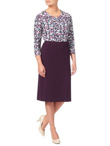 Eastex Plum Melange Skirt