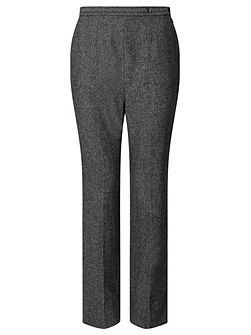 Charcoal Wool Trouser Short