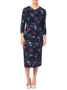 Eastex Rossmoor Blooms Print Dress