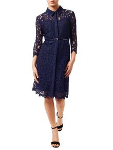 Precis Petite Alaine Lace Shirt Dress