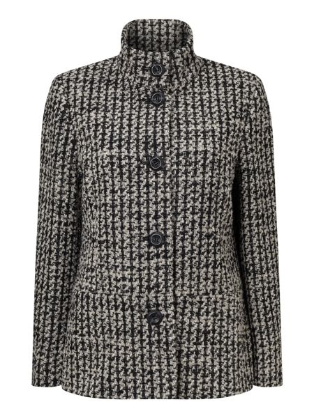 Eastex Funnel Neck Jacquard Coat