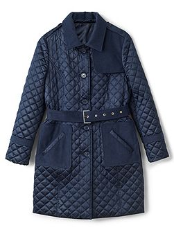 Erin Quilted Belted Trench