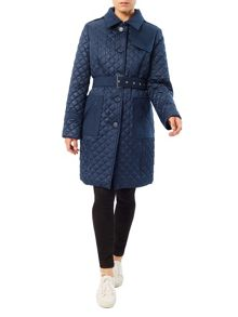 Precis Petite Erin Quilted Belted Trench