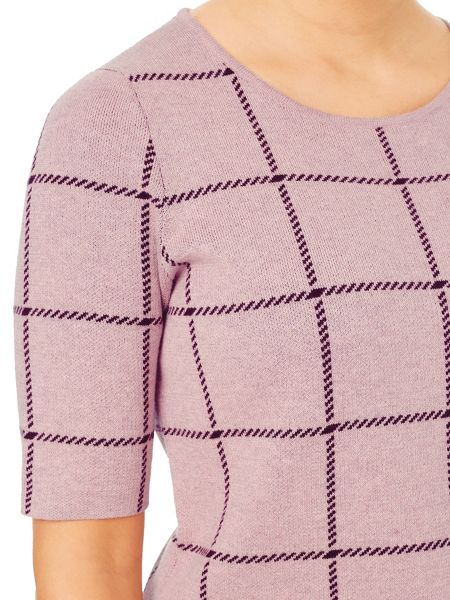 Eastex Check Knitted Jumper