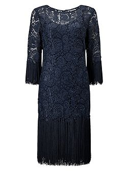 TASSLE LACE DRESS