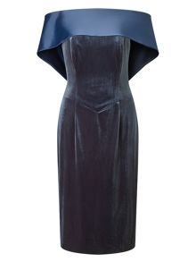 Jacques Vert Satin Back Neck Dress