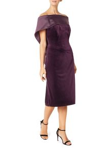 Jacques Vert Satin Band Neck Dres