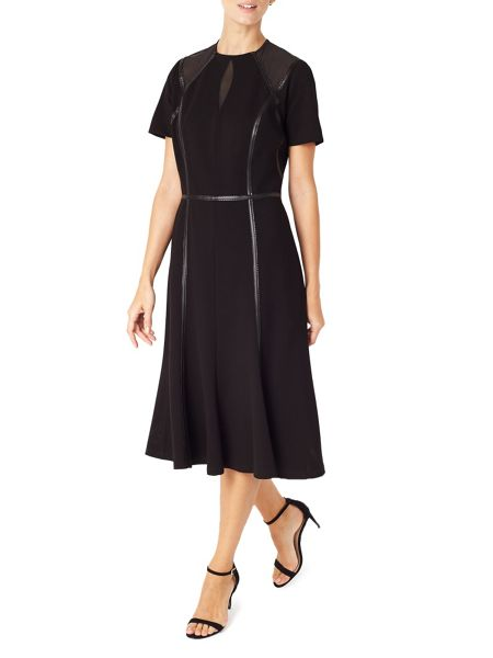 Jacques Vert Detail Trim Edge Mesh Dress