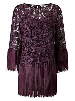 TASSLE LACE TOP