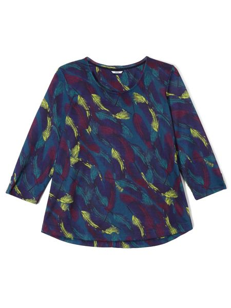 Dash Feather Print Top