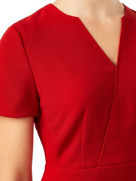 Precis Petite Jeff Banks Red Notch Dress