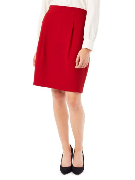 Precis Petite Jeff Banks Red Crepe Skirt