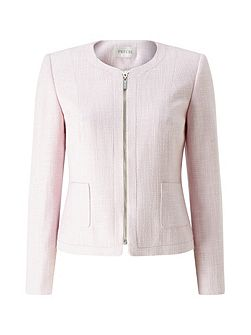 Eva Zip Front Textured Jacket