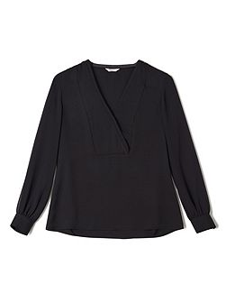 Jeff Banks Black V Neck Blouse