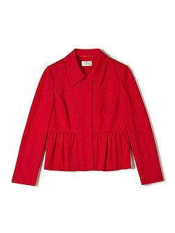 Jeff Banks Red Peplum Jacket