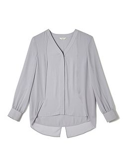 Jeff Banks Grey Cape Blouse