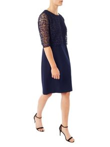 Precis Petite Jeff Banks Floating Lace Indig
