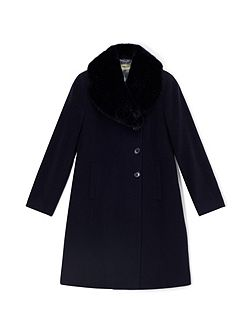 Jeff Banks Fur Collar Coat