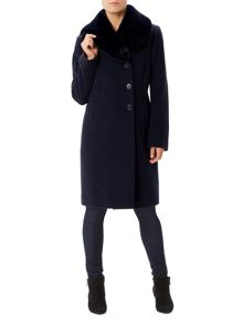 Precis Petite Jeff Banks Fur Collar Coat