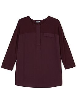 Yoke Woven Jersey Mix Top