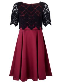 Jacques Vert Petite Lace Layer Prom