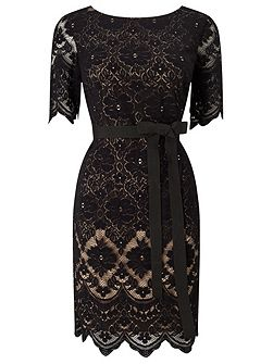Petite Layer Lace Dress