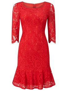 Jacques Vert Petite Peplum Lace Dress