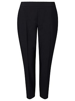 Black Pin Tuck Trousers