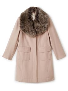 Precis Petite Stacy Fur Collar Long Coat